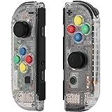 Myriann 任天堂 Nintendo Switch ニンテンドー カラー置換ケース 代わりケース 外?!·膜い说菆?! (ジョイコン-透明感) 新製品