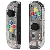 Myriann 任天堂 Nintendo Switch ニンテンドー カラー置換ケース 代わりケース 外殻 ついに登場! (ジョイコン-透明感)新製品