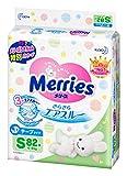 「【Amazon.co.jp限定】メリーズ テープ Sサイズ(4~8kg) さらさらエアスルー 82枚」の画像