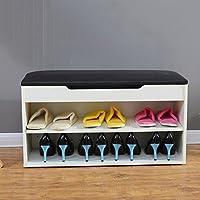 WENZHE シューズラック 靴箱ストレージ 靴のスツール ウッディー 多機能、 2色、 6サイズ シューズホルダー ( 色 : 白 , サイズ さいず : 80*42*30cm )