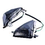 GZYF バイク用 フロント スモーク ウインカー レンズ カウル 電球無し (対応車種:カワサキ ZX-6R/ZX-10R/ZZR1400/1400GTR/ER-6f)