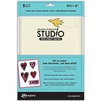 "(8.5"" X 11"""",""White) - Ranger - Studio Sticky Back Canvas 5/Pkg"