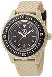 [キューアンドキュー スマイルソーラー]Q&Q SmileSolar 腕時計 20BAR シリーズ ブラック × ベージュ RP06-003 メンズ