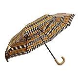[バーバリー] BURBERRY 折り畳み傘 雨傘 アンブレラ UMBRELLA ヴィンテージチェック 4075288 70500/ANTIQUE YELLW*HONEY
