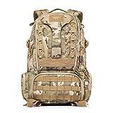 YAKEDAキャンプ用山登りハイキング用大型戦術用アウトドアトレッキングリュックサック45L-BKF-007 (マルチカムカモフラージュ) [並行輸入品]