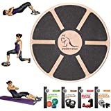 Pademelon Wood Balance Board - Premium Wobble Board - Stability, Rehab, Posture, Strength, Physical Therapy, Cardio, Fitness, Performance, Training, Workout. Build Strong Core & Lose Weight