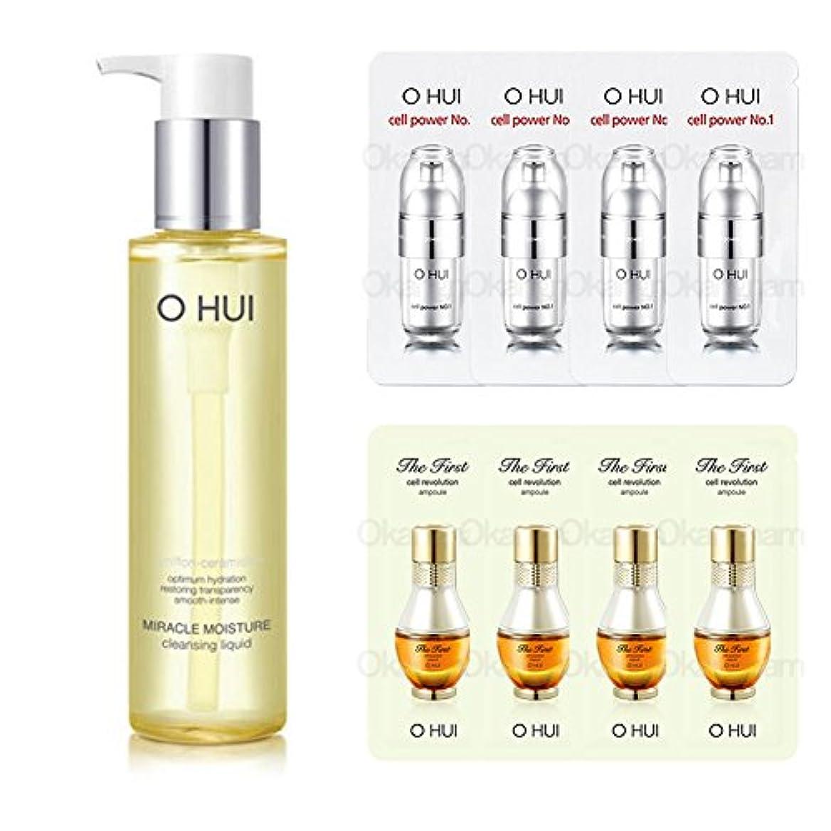 蒸留取り壊す注入オフィ/ O HUI LG生活健康/OHUI Cleansing Oilミラクルモイスチャークレンジングリキッド150ml+ Sample Gift (海外直送品)