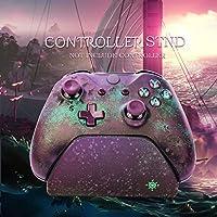 Tichan 11X Slimx コントローラスタンド ゲームパッドステーションホルダー ブラケット Xbox のゲームハンドル ベース コントローラスタンド (パープル)