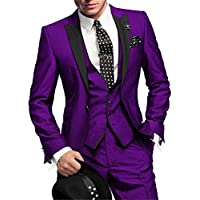 L.D Man Suits Three Pieces Classic Mens Tuxedos Vintage Wedding Formal Occasion Slim Fit Smoking Suits