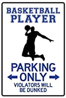 artedge Basketball Player Parking Onlyポスター印刷18x 12in