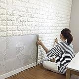 (メイクプレイ) DIY 壁ブリック タイル レンガ 壁紙シール 70cm×77cm ブリックステッカー 軽量レンガシール 壁紙シール アクセントクロス ウォールシール はがせる 壁シール (厚い)ホワイト (お得15枚セット)