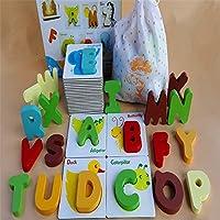 Gecter アルファベット 知育パズル 英語玩具と英語アルファベット DIY 知育玩具 英語単語 幼児教育 早期開発 積み木 可愛いデザイン カラフルも付きブロック 色意識上げる お子様に最高のおもちゃ 耐久性高いプラスチックで作り 水洗いできる防水タイプ 壊れにくい 子供へ誕生日プレゼント ギフト 子供の日 収納箱付き