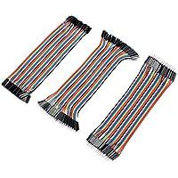 Aukru 3本セット ブレッドボード・ジャンパーワイヤー ジャンパー線 / ケーブル オス-オス/ オス-メス/ メス-メス Arduino Raspberry pi 用