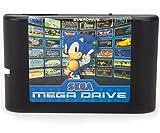 ゲームカード,820 in 1ゲームソフト ゲームカセット ゲームカートリッジ 内蔵820ゲーム クラシック 人気 ゲームFor Sega Mega Drive Genesis 8GB SDHCカード付き