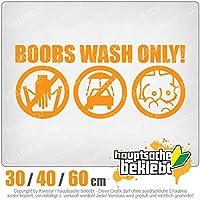 KIWISTAR - Boobs Wash Only! 15色 - ネオン+クロム! ステッカービニールオートバイ