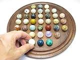 Natural Stones ソリティア 紫檀 丸玉 20mm(天然石のボードゲーム・知育・脳トレ)