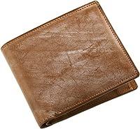 e9da9d86adfa [ PRAIRIE ] ブライドル レザー メンズ 二つ折り 財布 英国製牛革使用 : ライトブラウン