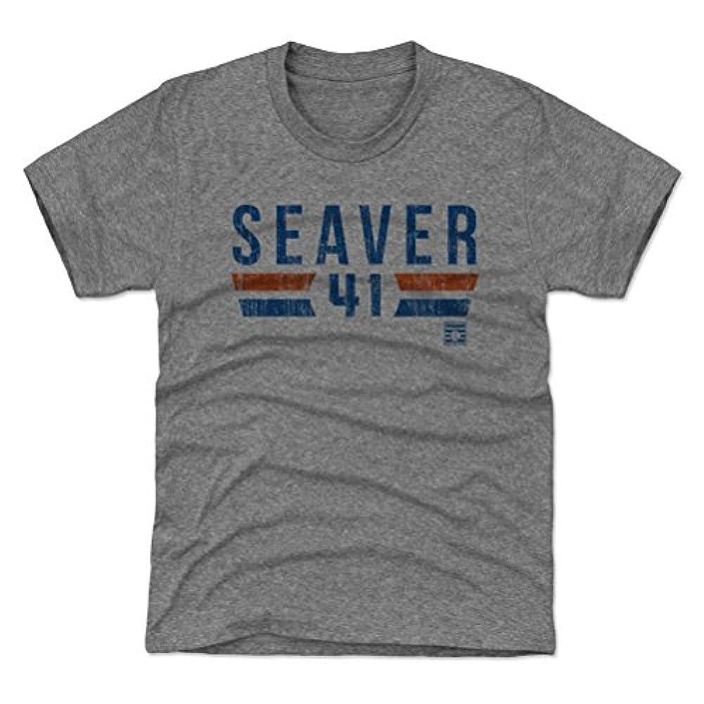 赤外線メイト欺く500レベルのTom Seaverユース&キッズTシャツ – ニューヨーク野球ファンギア野球の殿堂の公式ライセンス – Tom SeaverフォントB