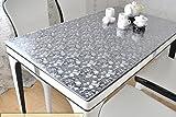 IVERNA テーブルクロス PVC製 テーブルマット デスクマット テーブルクロス 長方形 防水 撥水 耐久 汚れつきにくい くり石