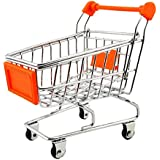 ミニショッピングカートセールスマンサンプルの子のおもちゃメタルショッピングBuggyオレンジ