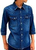 Marukawa JEANS POWER JEANS VALUE(マルカワジーンズパワージーンズバリュー) シャツ デニム ウエスタンシャツ ブルー L