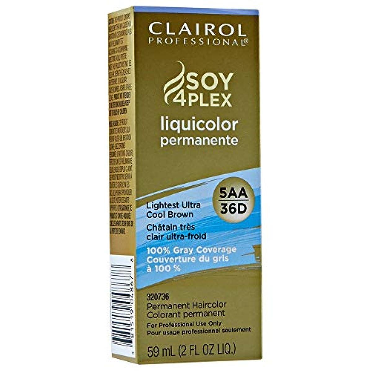 蜜まだ起業家Clairol Professional Soy 4 Plex Liquicolor Permanent 36D Lightest Ultra Cool Brown 59 ml (並行輸入品)