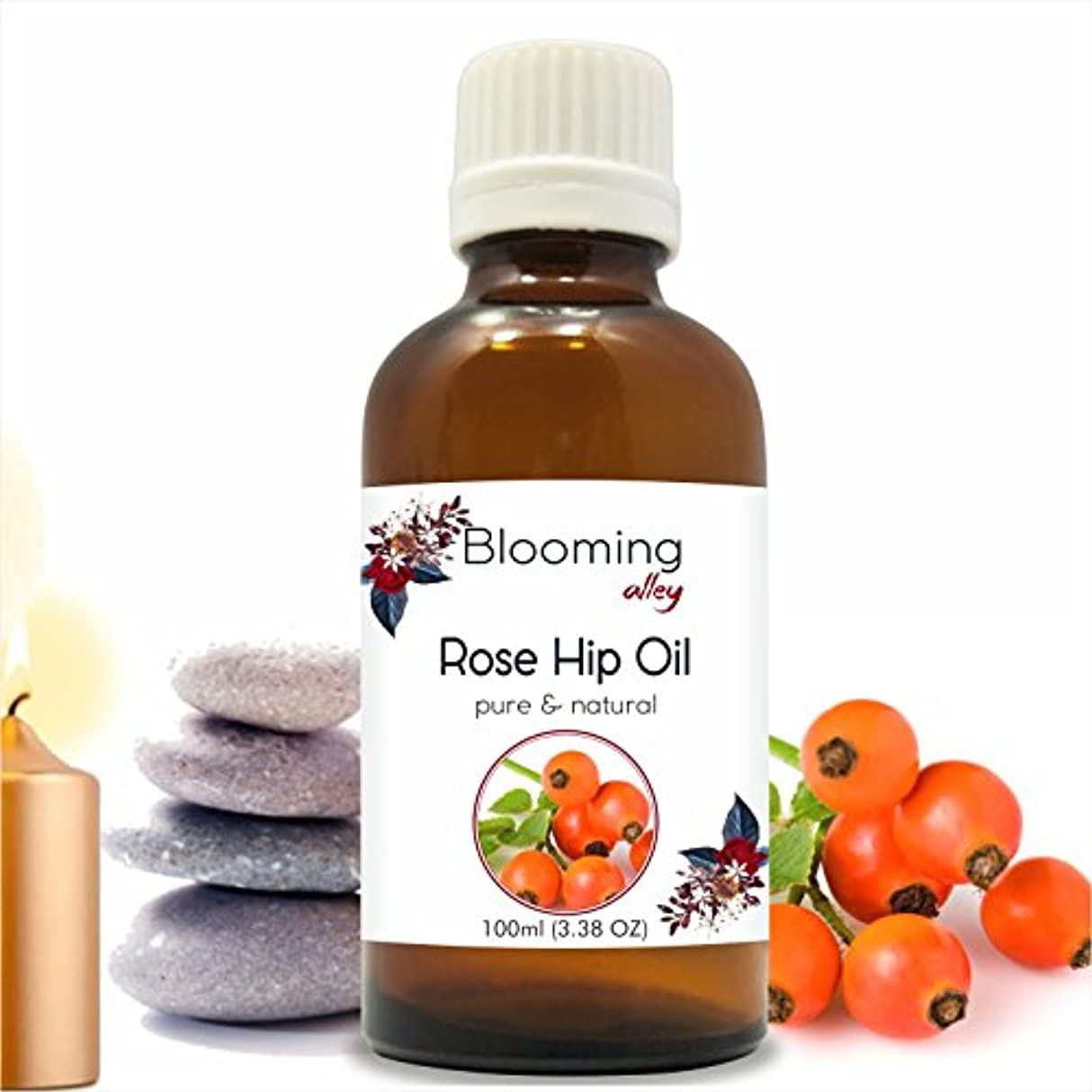 去るスラム研究所Rosehip Oil(Rosa Moschata Or Rosa Rubiginosa) Carrier Oil 100 ml or 3.38 Fl Oz by Blooming Alley
