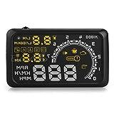 CarOver 【OBD2連動】 5.5インチ ヘッドアップディスプレイ 高輝度LED 過速度警告 / スピードメーター / 回転数 / 走行距離 / 燃料補給など CO-OBD2-HUD