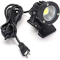 白色 昼光色 LEDクリップライト 小型 (PSE)規格品 防雨 防水型 5W (40W相当) スイッチなし コード長3m 看板用・黒板用照明/店舗看板用/店頭看板/LEDライト/電気スタンド/デスクスタンド/アームライト/ピッコロライト/アウトドア・エクステリアライト (スイッチなし-白色)