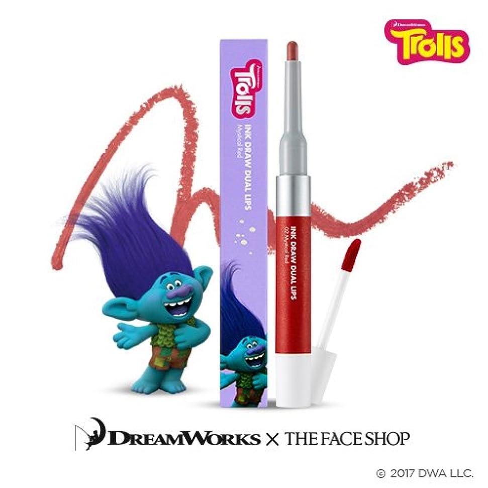 もろい容器地元The Face Shop Ink Draw Dual Lip_Trolls Edition 02. Red/ザ?フェイスショップ インクドローデュアルリップ_トロールエディション (02. Red) [並行輸入品]
