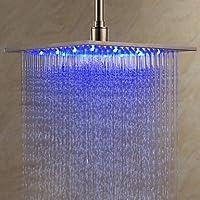 どのように@浴室用機器:現代レインシャワーブラシ付きLED /降雨装置、シャワーヘッド