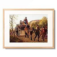 フレデリック・ベーコン・バーウェル Frederick Bacon Barwell 「The Hero of the Day. 1861」 額装アート作品