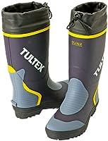 [タルテックス] 長靴 吸汗性ドライ裏地仕様 カラー長靴(フード付) 3E ネイビー×グレー L