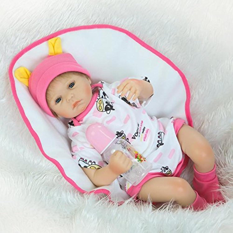 Nkol Reborn人形Lifelike新生児赤ちゃん人形with Cowコットンロンパース(ソフトシリコンビニール磁気口20インチ50 cm子供用リアルな赤ちゃんおもちゃ