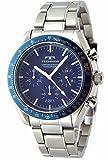 TECHNOS テクノス メンズ クロノグラフ 腕時計 10気圧防水 オーシャンブルーベゼル ネイビー文字盤 [並行輸入品]