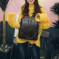 ZHANGYOUDE Dual-use Backpackage Ladies Bag Travel Bag College Style School Bag (Black) (Color : Black)