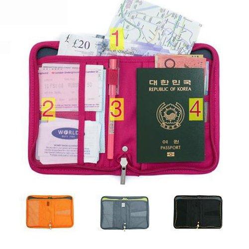 【パスポートケース】 トラベルグッズ 便利グッズ オレンジ【9701A】