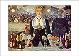 ポスター マネ 『フォリー=ベルジェール劇場のバー』 A4サイズ 【返金保証有 日本製 上質】 [インテリア 壁紙用] 絵画 アート 壁紙ポスター