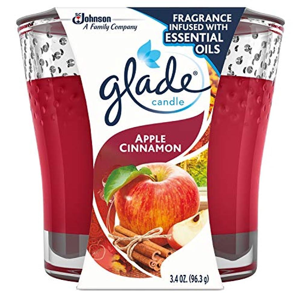 感嘆符過激派石灰岩Glade Jar Candle Air Freshener, Apple Cinnamon, 3.4 Ounce by Glade