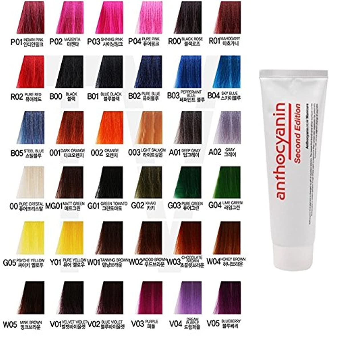 修正なに凍るヘア マニキュア カラー セカンド エディション 230g セミ パーマネント 染毛剤 ( Hair Manicure Color Second Edition 230g Semi Permanent Hair Dye) [並行輸入品] (A01 Deep Gray)