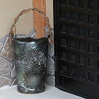 信楽焼 青雲つる付き傘立て しがらき焼 笠立て 陶器 おしゃれ kt-0222