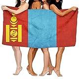 ビーチバスタオル バスタオル モンゴル国旗 スポーツ 海水浴 旅行用タオル 多用途 おしゃれ One Size White