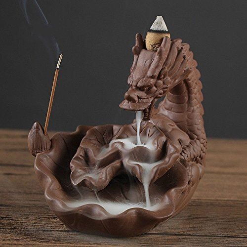 [해외]향로 향 립 향 드래곤 치유 향로 倒流 향 선물 선물 (드래곤 A)/Incense incense incense incense incense dragon healing incense censer burn incense gifts gifts (Dragon A)