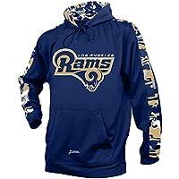 NFL Los Angeles RamsメンズCamo Print Accentチームロゴ合成パーカー、M、ネイビー