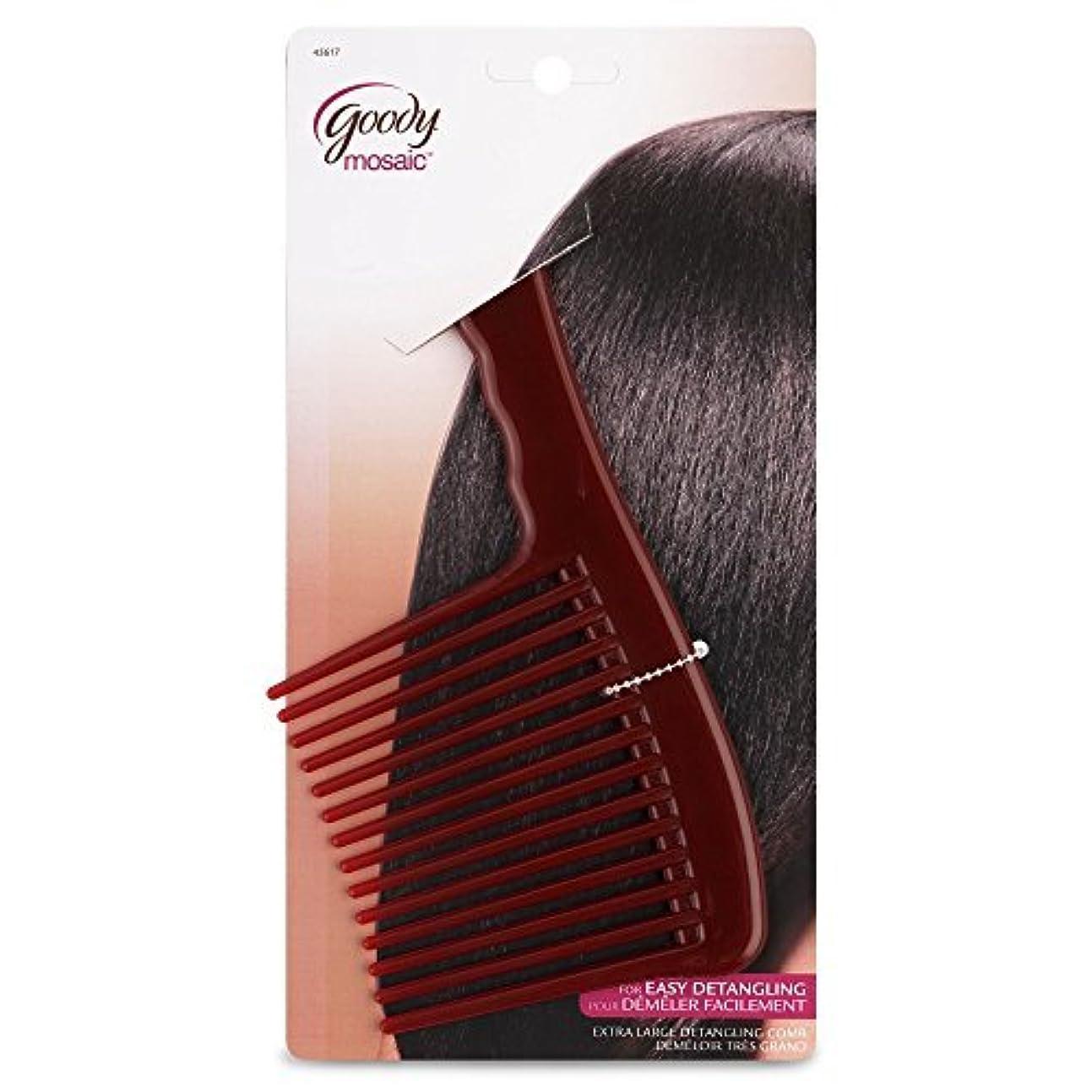 スパイラル没頭するのぞき穴Goody Mosaic Comb, Detangling Hair Rake [並行輸入品]