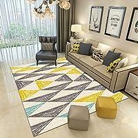 カーペットのコーヒーテーブルのソファ長方形のカーペットカーペットの廊下カーペットの入り口のベッドルーム洗濯可能なソフトタッチ不織布の下敷き滑り止め、厚さ8ミリメートル6単色 (色 : A2, サイズ さいず : 80 * 120CM)