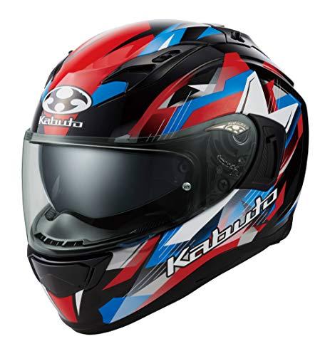 オージーケーカブト(OGK KABUTO)バイクヘルメット フルフェイス KAMUI3 STARS(スターズ) ブラックブルーレッド (サイズ:S) 587260