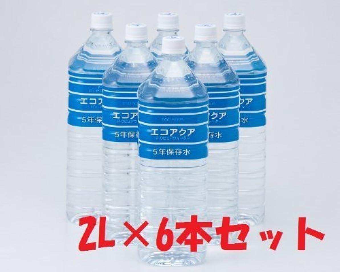 無関心みぞれ評議会エコアクア 2L×6本 (5年保存水)
