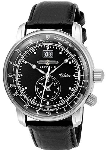[ツェッペリン]ZEPPELIN 腕時計 100周年モデル ブラック文字盤 7640-2 メンズ 【並行輸入品】