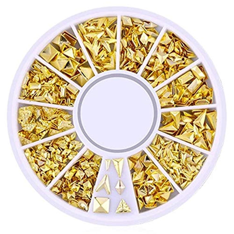 現在決定的ふさわしいTOOGOO 3d中空ネイルアートデコレーション混合形状の幾何学ゴールデンチップdiyネイルアートツールファッションネイルデコレーションステッカーXy-13
